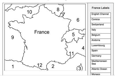 Outline Of Map Of France.Mr Nussbaum France Outline Map