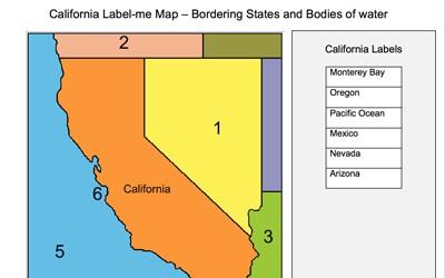 Bodies Of Water In California Map.Mr Nussbaum Usa California Activities