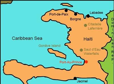 Mr. Nussbaum - Haiti Printable Outline Map