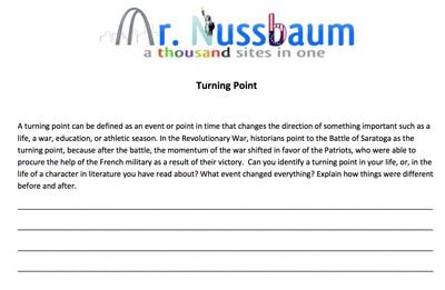 Mr. Nussbaum - Battle of Saratoga Reading Comprehension - Online