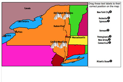 Map Of New York For Students.Mr Nussbaum Usa New York Activities