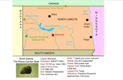 Mr. Nussbaum - South Dakota Interactive Map