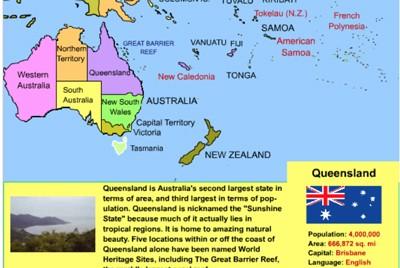 Mr. Nussbaum - Australia and Oceania interactive Map