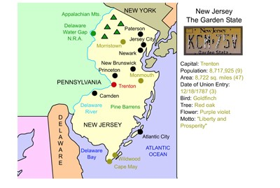 photo about Printable Map of Nj called Mr. Nussbaum United states of america Clean Jersey Actions