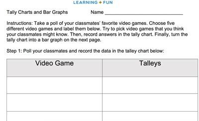 Mr  Nussbaum Math Graphing Day Activities