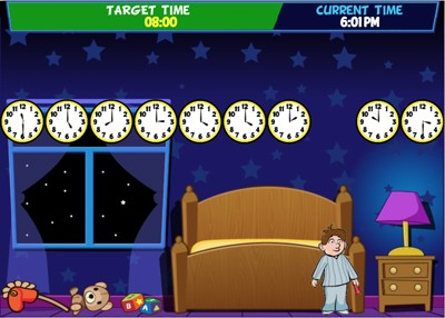 Mr. Nussbaum - Bedtime Bandits - Online Game (Telling Time)