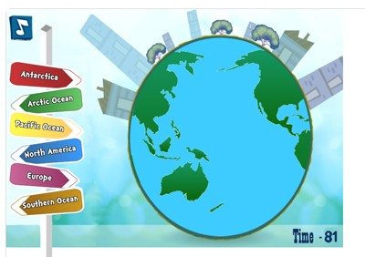 Mr. Nussbaum - Continents and Oceans Quiz - Online
