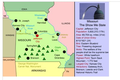 Map Outline Of Canada And Missouri Together Mr. Nussbaum USA Missouri Activities