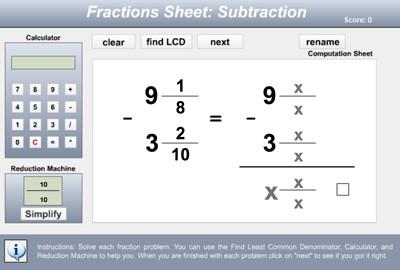 Mr Nussbaum Math Fractions Activities