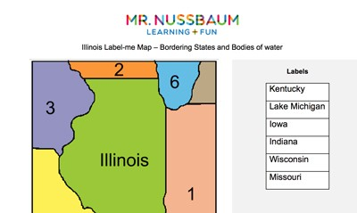Mr. Nussbaum - Kentucky Label-me Map - Online
