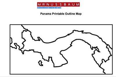 Mr Nussbaum Costa Rica Outline Map