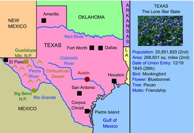 Texas Landform Map Mr. Nussbaum USA Texas Activities
