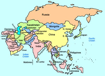 Map Of World Asia.Mr Nussbaum Geography Asia Activities