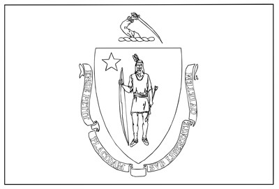 massachusetts state symbols coloring pages - photo#21