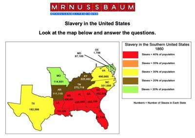 Mr. Nussbaum History Civil War - Causes Activities
