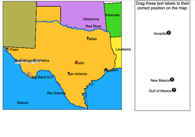 Dallas On A Map Of Texas.Mr Nussbaum Usa Texas Activities