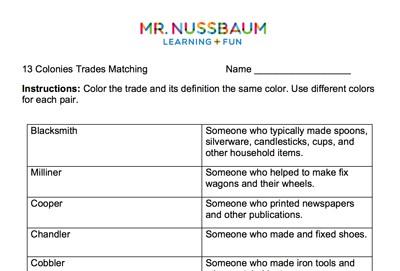 Mr. Nussbaum - 13 Colonies Interactive Map