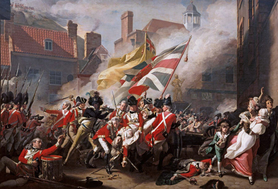 The Death of Major Peirson, in the 1781 Battle of Jersey (1783)