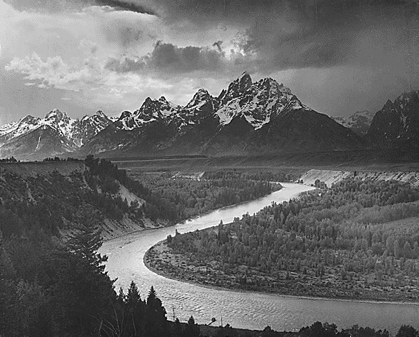 Grand Tetons by Ansel Adams