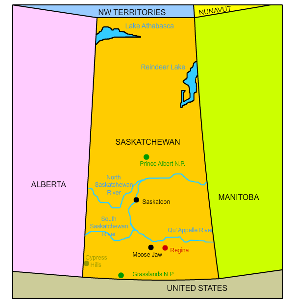 Moosejaw Canada Map Nine Interesting Facts About Saskatchewan