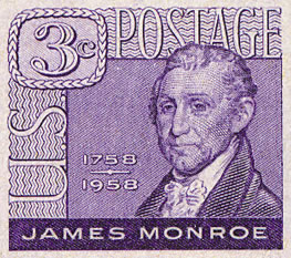 James Monroe Postage Stamp