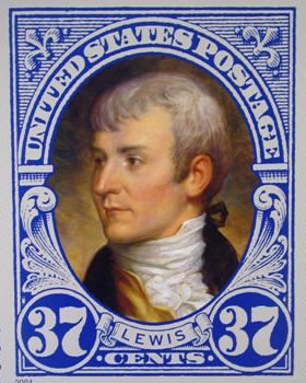 Meriwether Lewis Postage Stamp