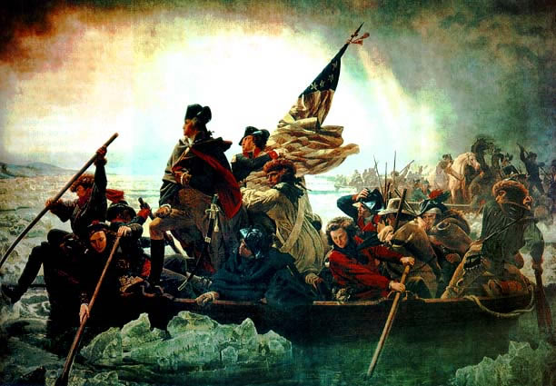 Washington Crossing the Delaware River.