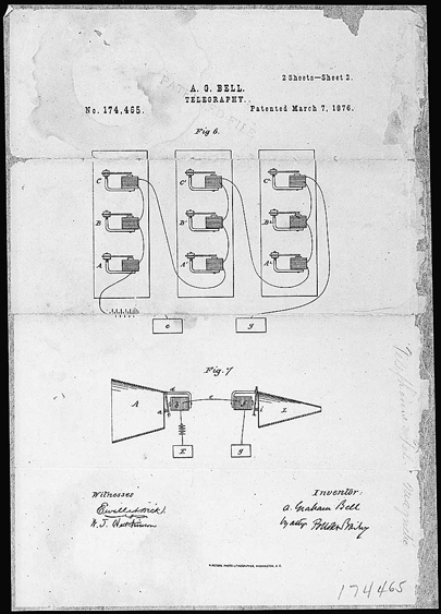 Alexander Graham Bell Patent Drawing