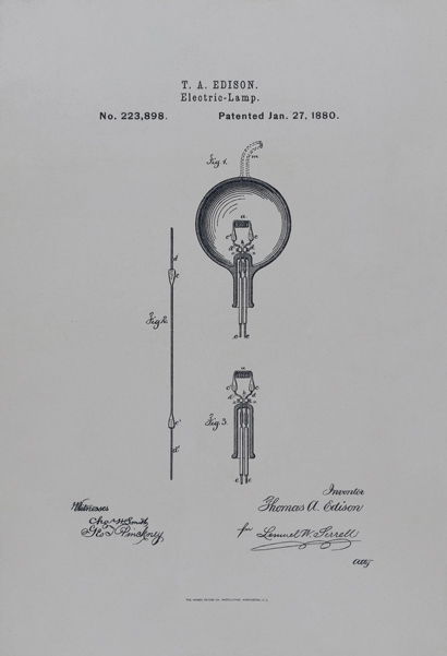 Edison's Electric Lamp Patent