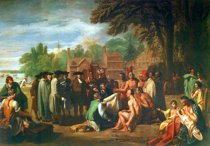 Benjamin West Painting of Penn's Treaty with the Lenni Lenape