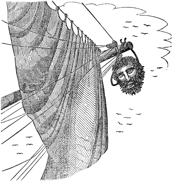 Blackbeard's End as Pictured in The Pirates Own Book (1837)