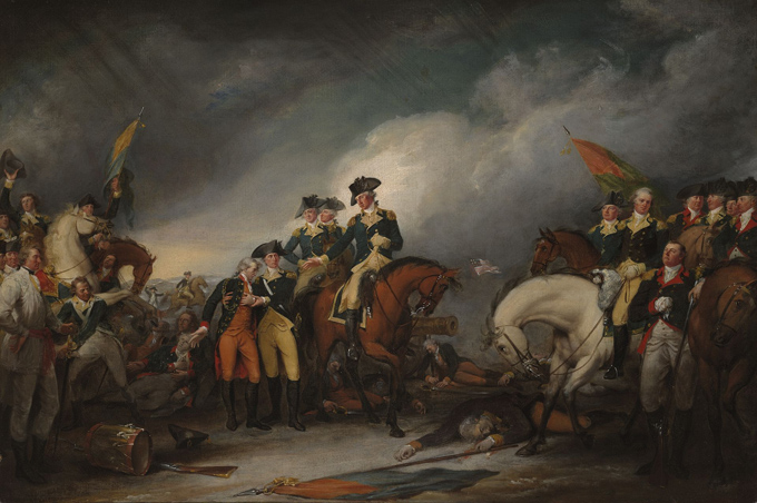 Capture of the Hessians on December 26, 1776 by John Trumbull