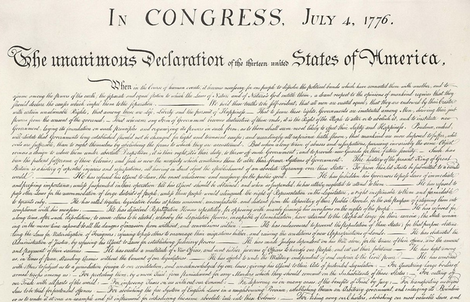 Four Dollar Declaration of Independence