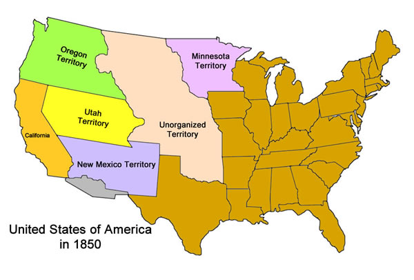 United States of America in 1850