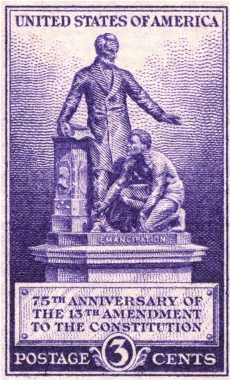 U.S. Postage Stamp honoring the 100th Anniversary of the 13th Amendment