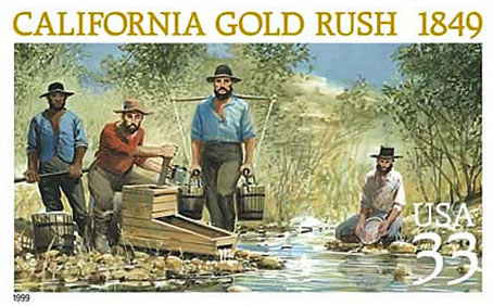 California Gold Rush Pstage Stamp